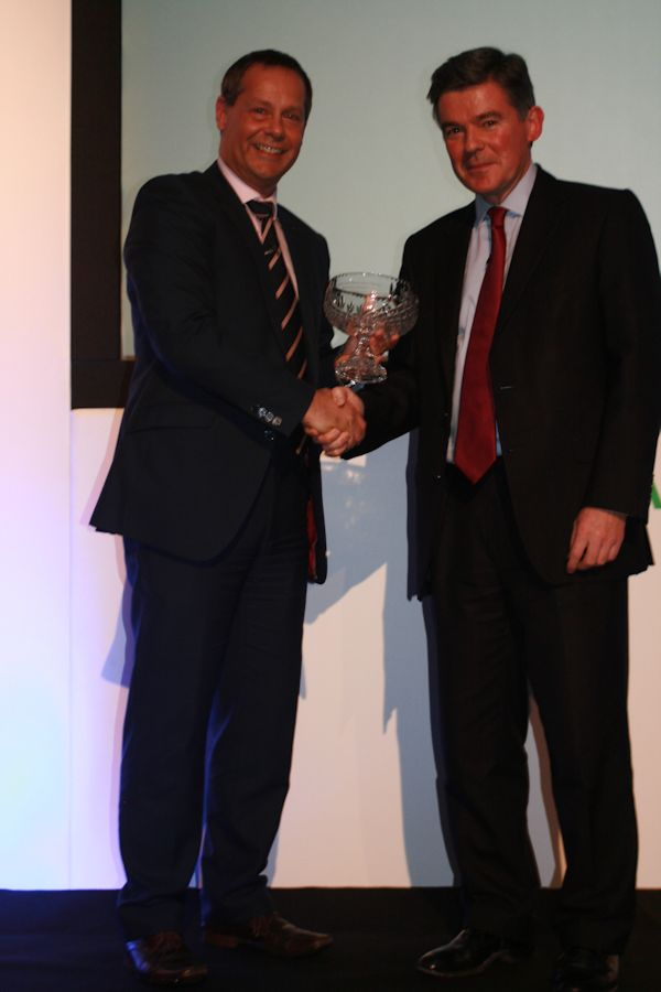 Hugh receives the Emeritus Award from Andy Reed OBE, Chair of Sport & Recreation Alliance at their Leadership Convention in Leeds