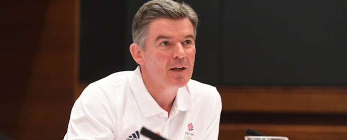 Sir Hugh Robertson at the post-Rio press conference 2016