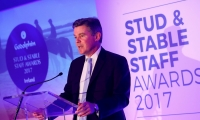 Sir Hugh Robertson at the Godolphin Stud and Stable Staff Awards 2017